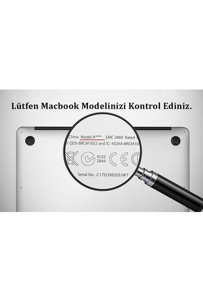 """Kızılkaya Apple Yeni Macbook Pro 2020 A2289 / A2251 13"""" 13.3"""" Touch Bar Türkçe Silikon Q Klavye Koruyucu"""