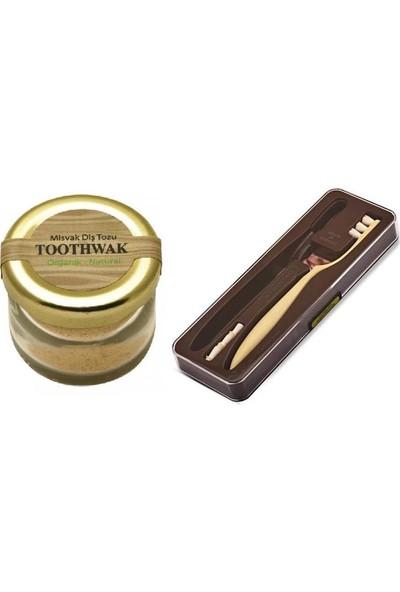 Toothwak Toothawk Diş Fırçası 3AD Başlık + Misvak Diş Tozu