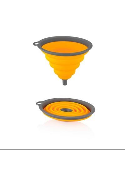 Yer Kaplamaz Akordiyon Katlanabilir Süzgeç ve Huni Seti Turuncu L-630-L-572-L-570-L-571