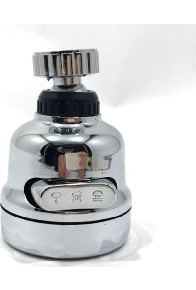 Tasarruflu Oynar Başlık Tazyikli Krom Eviye Musluk Spiral Batarya Ucu 3 Fonksiyonlu Musluk B