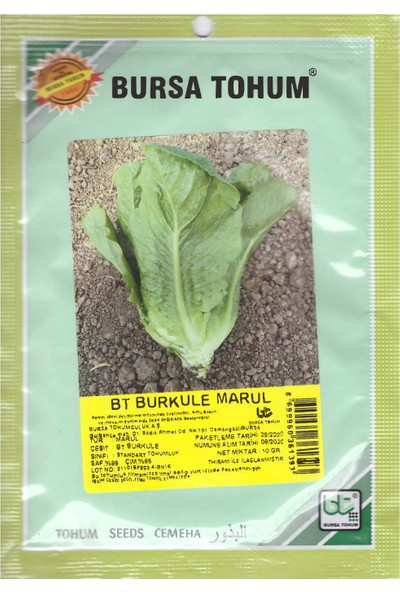 Bursa Tohum Bt Burkule Marul Tohumu 10 gr