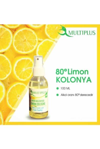 Multiplus Kolonya Limon 100 ml Sprey 80 Derece 12'li