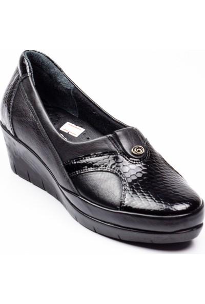 Scavia 105 Siyah Deri Kadın Günlük Ayakkabı