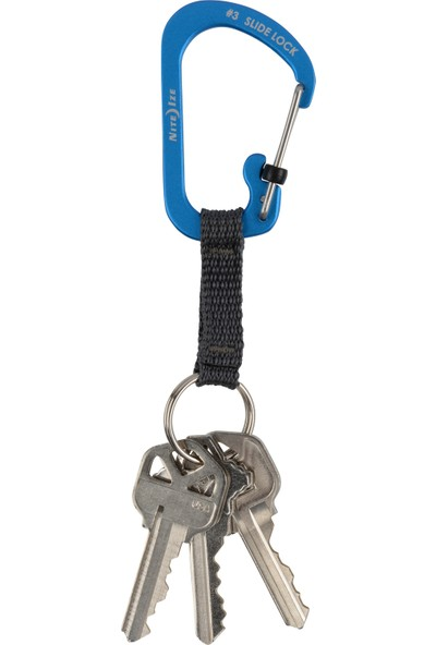 Nite Ize Slidelock® Alüminyum Karabiner Keyring Anahtarlık