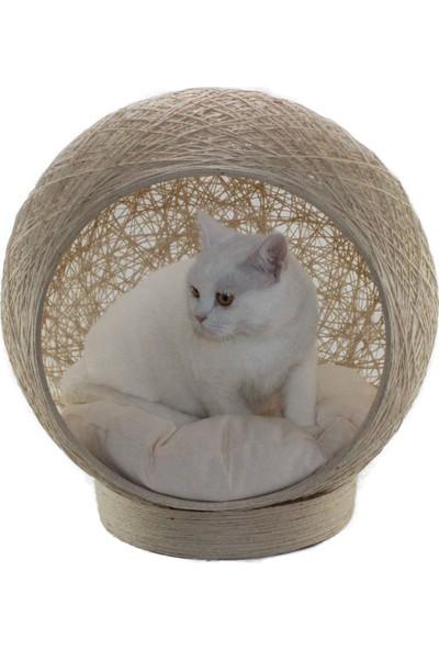 Alpi Kedi Yatağı Yastığı Yuva Evi Kırık Beyaz