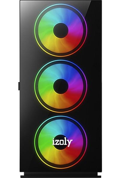 "İzoly K205 Intel Core i5 750 8GB 480GB R7 240 Freedos 24"" Masaüstü Bilgisayar"