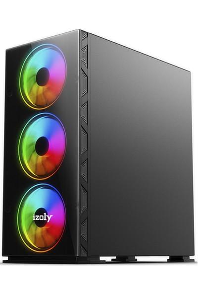 "İzoly K206 Intel Core i5 750 8GB 240GB SSD R7 240 Freedos 24"" Masaüstü Bilgisayar"