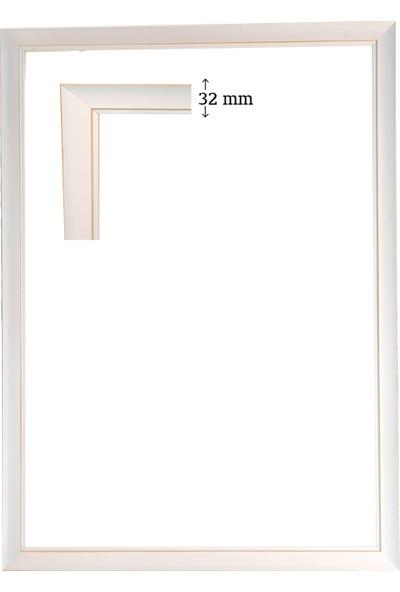 Efor Çerçeve 2000 Parça Eskitme Beyaz Puzzle Çerçevesi ( 96 cm x 68 cm )
