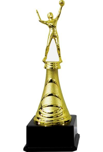 Hazar Spor Spor Branşı Figürlü Metal Ödül Kupası - 31 cm - Voleybol