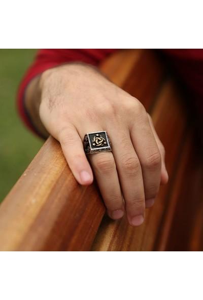 Tesbihname 925 Ayar Gümüş Armalı Teşkilat-I Mahsusa Yüzük