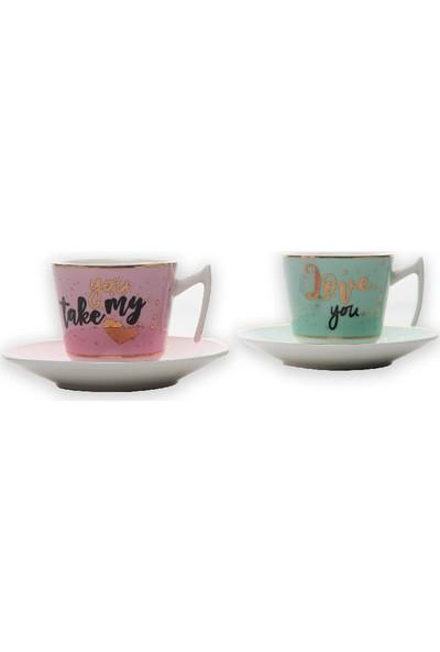 Aryıldız Porselen 2kişilik Kahve Fincan Seti Juvenile