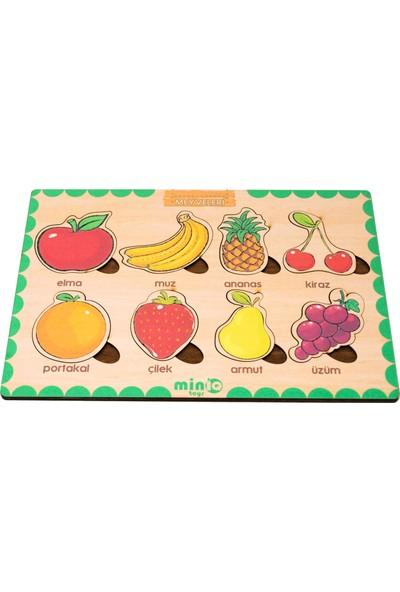 MinİQ Toys Türkçe Meyveler Eğitici -Öğretici Yapboz
