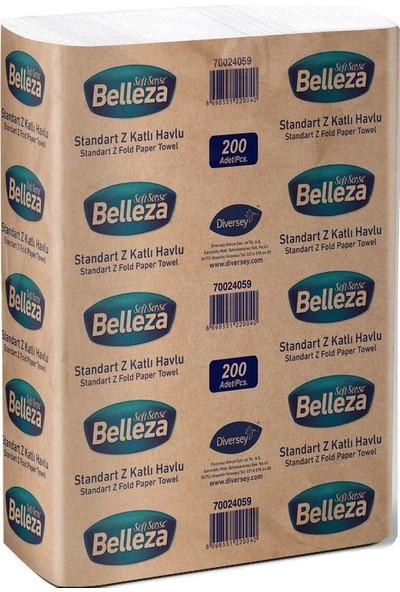 Belleza Standart Z Katlama Kağıt Havlu 20,5 x 21,5 cm 150' Li x 12