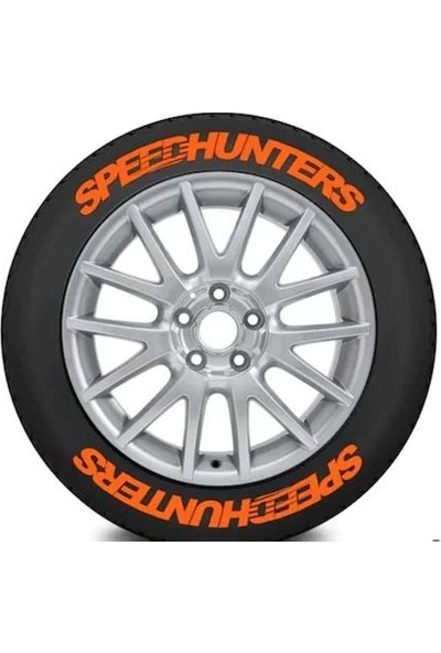 Ps Stickers Lastik Yazısı 4 Adet Speedhunters Stıker