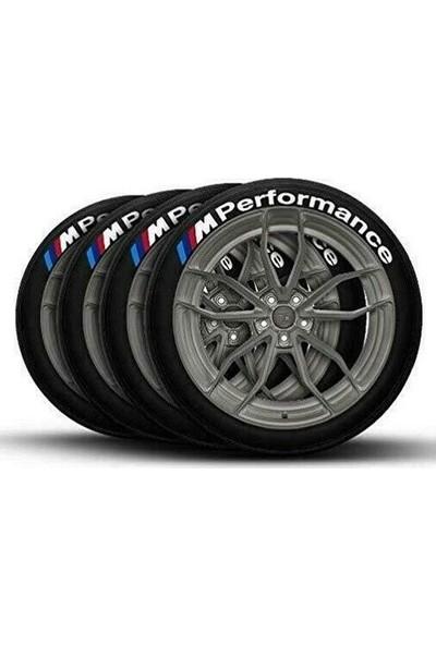 Ps Stickers Lastik Yazısı 4 M Performance 3D Araç Motorsiklet Lastik Yazı Stıker