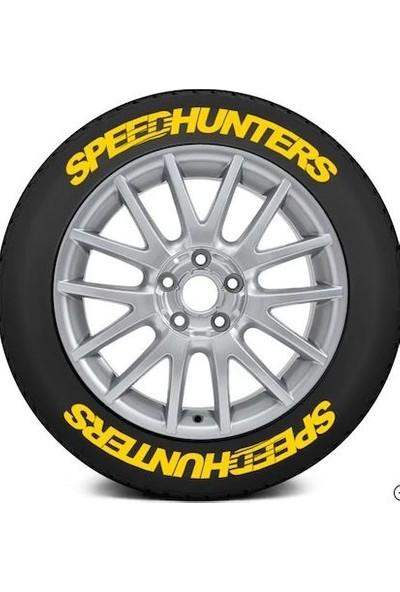 Ps Stickers Lastik Speedhunters Sarı Stıker