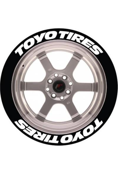 Ps Stickers Lastik Yazısı 8li Toyo Tıres Stıker