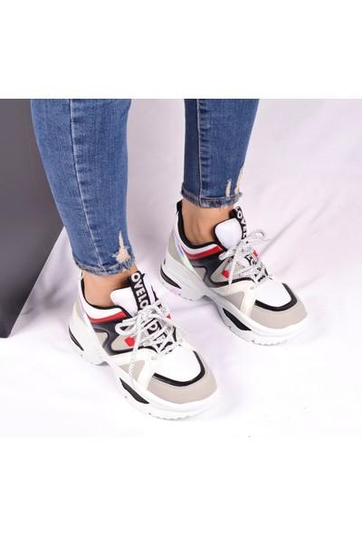 Flet Beyaz Kadın Sneaker