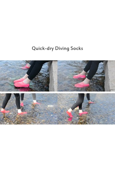 Buyfun Naylon Kaymaz Su Sporları Çorap Yalınayak Çabuk