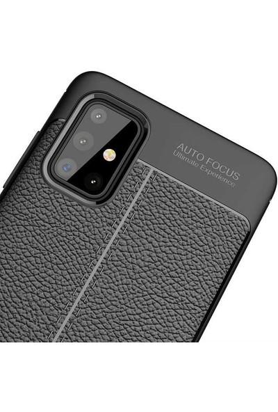 Kvy Samsung Galaxy A51 Deri Görünümlü Lux Niss Silikon Kılıf