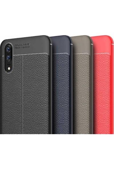 Kvy Huawei P20 Pro Deri Görünümlü Lux Niss Silikon Kılıf