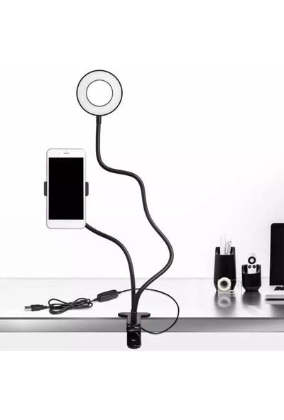 Realx Akrobatlı LED Ring Light Youtuber Light Stüdyo Işığı LED Masa Lambası