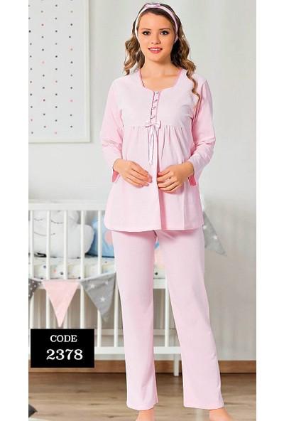 Hamile Lohusa Pijama Takımı 3 Parça