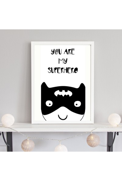 Turuncubirkafa You Are My Super Hero Tekli Çerçeve Seti