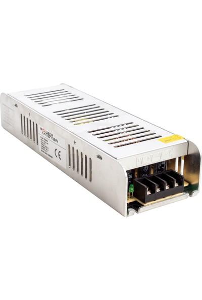 Alfa Powermaster PM-13249 12 Volt - 20 Amper Slım Kasa Metal Adaptör (225*68*40)