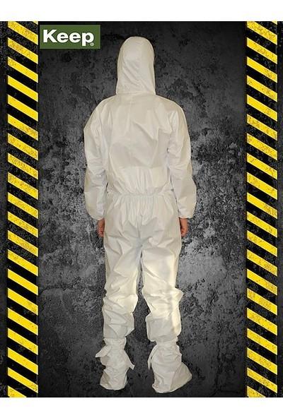 Keep Coverall Lamine Type 5/6 Kimyasal Sıçramalara Dayanıklı Tek Kullanımlık Tulum