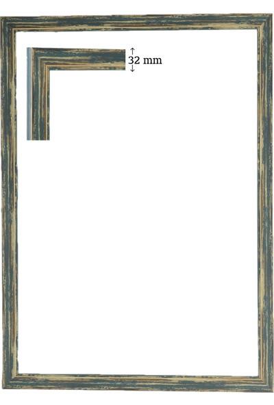 Efor Çerçeve 1500 Parça Puzzle Eskitme Yeşil Puzzle Çerçevesi ( 85 cm x 60 cm )