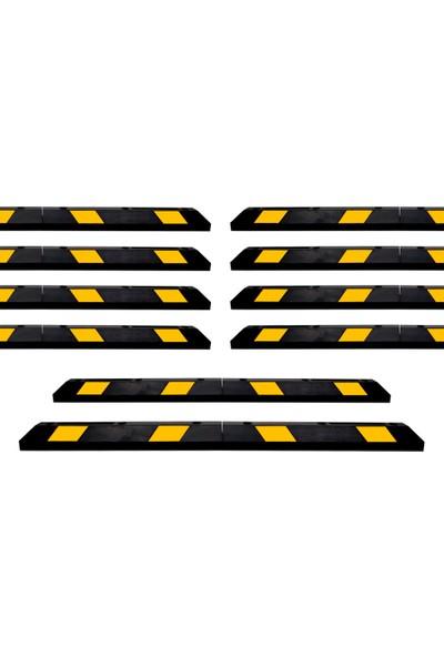 Mfk Plastik Kauçuk Araç Stoperi 183 x 15 x 10 cm 10 Adet Set