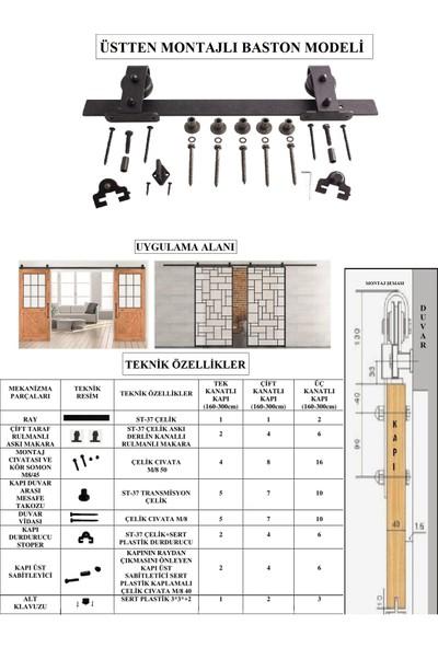 Ahır Kapısı Üstten Montajlı Baston Modeli Sürgü Mekanizması