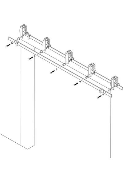 Ahır Kapısı Baston Modeli (Çift Ray-Çift Kanat) Dolap Sistemi Sürgü Mekanizması