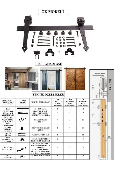 Ahır Kapısı Ok Modeli Sürgü Mekanizması