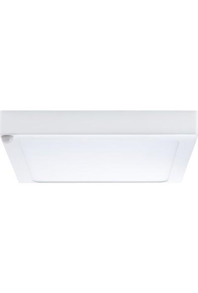 Lamptime Sıva Üstü Slim LED Downlight Ir Sensörlu Siyah Gövde 24W Kare 3000K Gunışığı Işık 263338