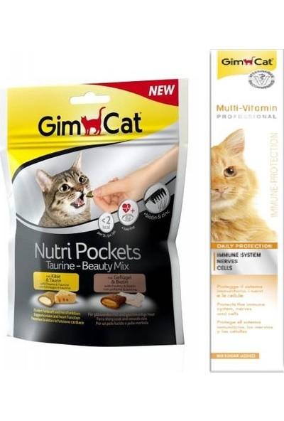 Gimcat Nutri Taurine Beauty Mix Ödül 150 gr + 100 gr Vitamin Kedi