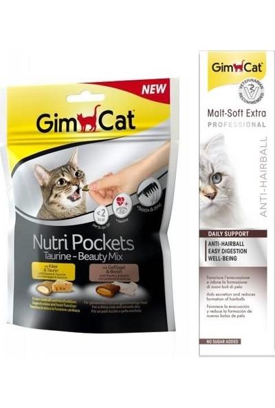 Gimcat Nutri Taurine Beauty Mix Ödül 150 gr + 100 gr Malt Kedi