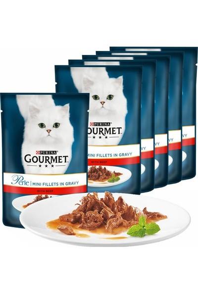 Proplan Gourmet Perle 6 Adet Izgara Sığır Kedi Konservesi 85 gr