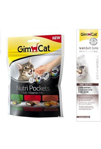 Gimcat Nutri Malt Vitamin Mix Ödül 150 gr + 100 gr Malt Kedi Past