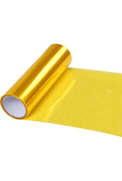 Newdizayn Sarı Transparan Far Filmi 30 cm x 1 m