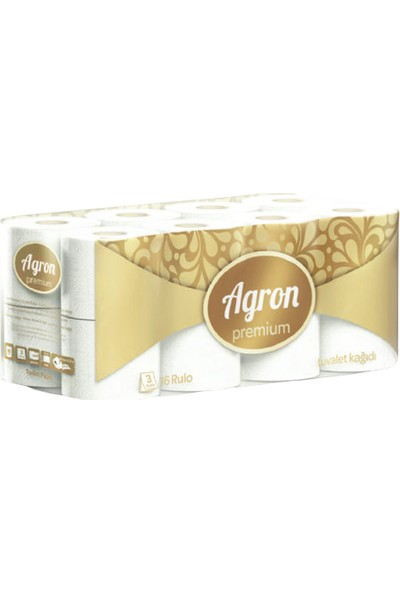 Agron Ev Tipi Premium Tuvalet Kağıdı 3 Katlı 48'li