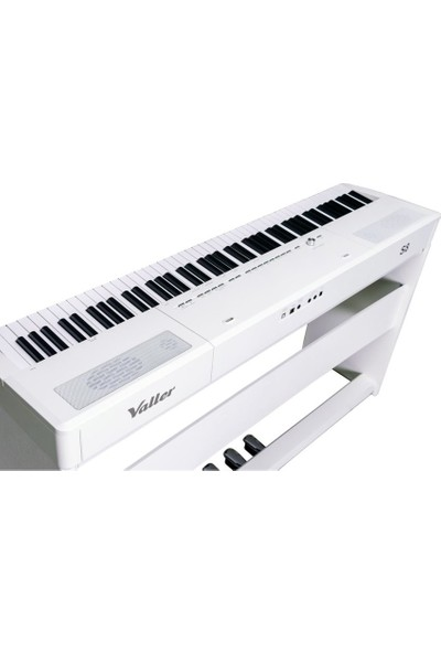 Valler S8 Wh Portable Stage Dijital Piyano Beyaz + Stand + Sehpa + Kulaklık
