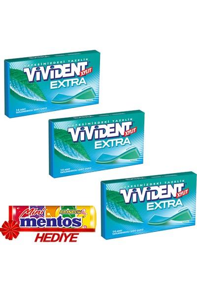 Vivident Cüzdan Extra Nane 3'lü + Mentos