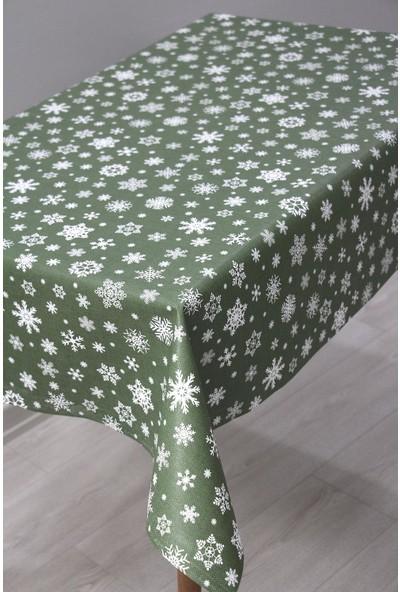 Astarlı Silinebilir Pvc Muşamba Masa Örtüsü - Yeşil Kartane