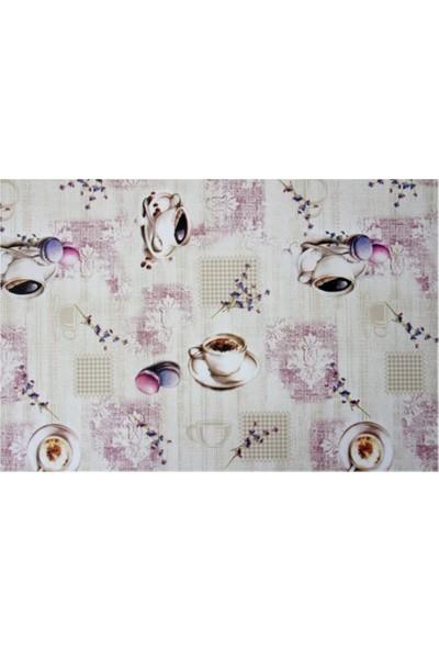 Dede Ev Tekstil Elyaf Astarlı Silinebilir Pvc Muşamba Masa Örtüsü 1108-1PMB