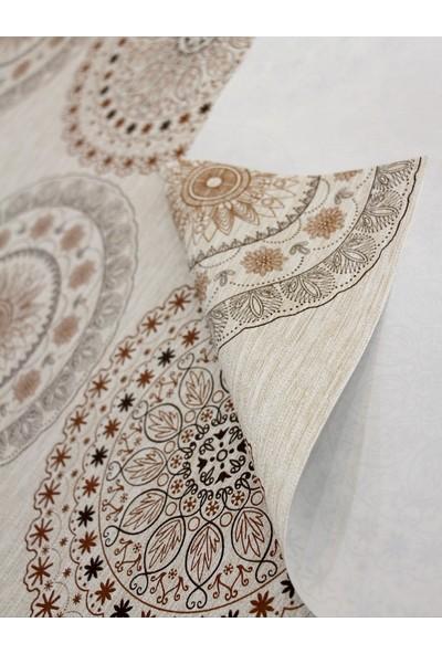 Dede Ev Tekstil Astarlı Silinebilir Pvc Leke Tutmaz Muşamba Masa Örtüsü 06-Bk1