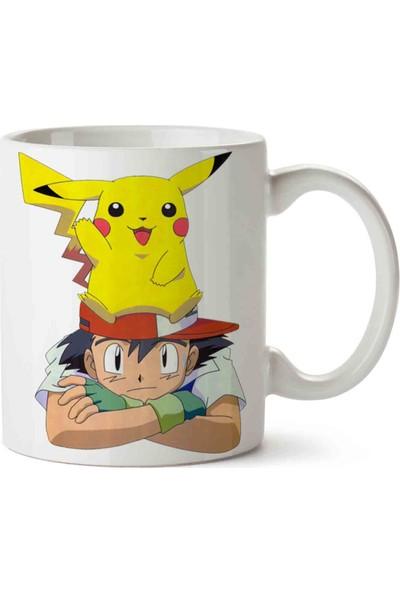 Art Hediye Ash Pokemon Pikachu Kupa Bardak