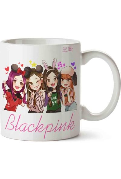 Art Hediye Blackpink Black Pink Karakterler Kupa Bardak