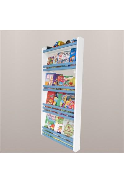 Mdf Mavi Lake Montessori Kitaplık 4 Raflı